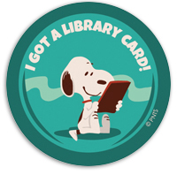 SnoopyLibraryCard_Sticker_200x300